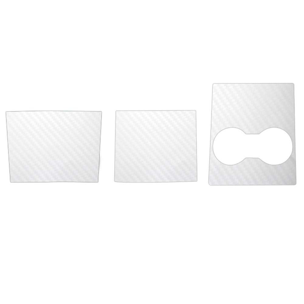 Interior Wrap Sticker White Carbon Fiber Car Center Console For Tesla Model 3