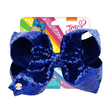 8 Sequin Hair Bow With Hair Clip For Girls Kids Large Bling Rainbow Mermaid Jumbo Bows Hairgrips Reversible Hair Accessories цена