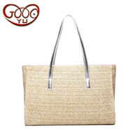 New Beach Woven Handbag Cross Section Square Large Capacity Tote Bag Simple Casual Wild Straw Bag