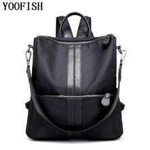 YOOFISH  Brands New Natural Oxford Backpacks Women Backpack Tote Bags Fashion Casual Mochila Preppy Style LJ-899
