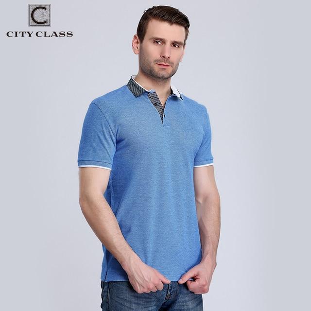 Город класса новые мужские рубашки поло двойной Цвет ткань пике короткий рукав дышащая Бизнес Повседневное мужской поло хлопчатобумажная рубашка 2442