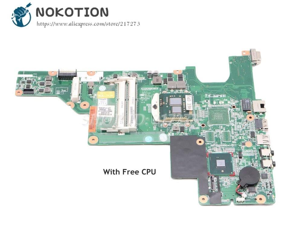 NOKOTION 646669-001 для HP CQ43 631 630 635 430 материнская плата для ноутбука HM55 UMA DDR3 Бесплатный процессор