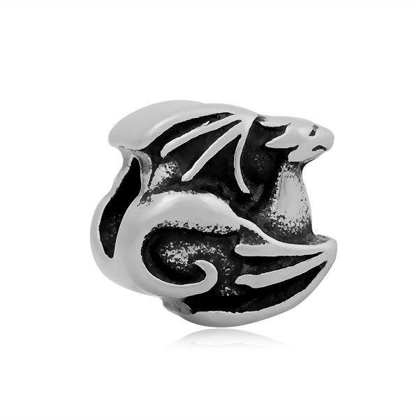 baf95c6c5f9be ديناصور 316l الفولاذ الصلب الأوروبي سحر الحيوان الخرز عالية الجودة العصرية  مجوهرات النتائج SEB-LG554