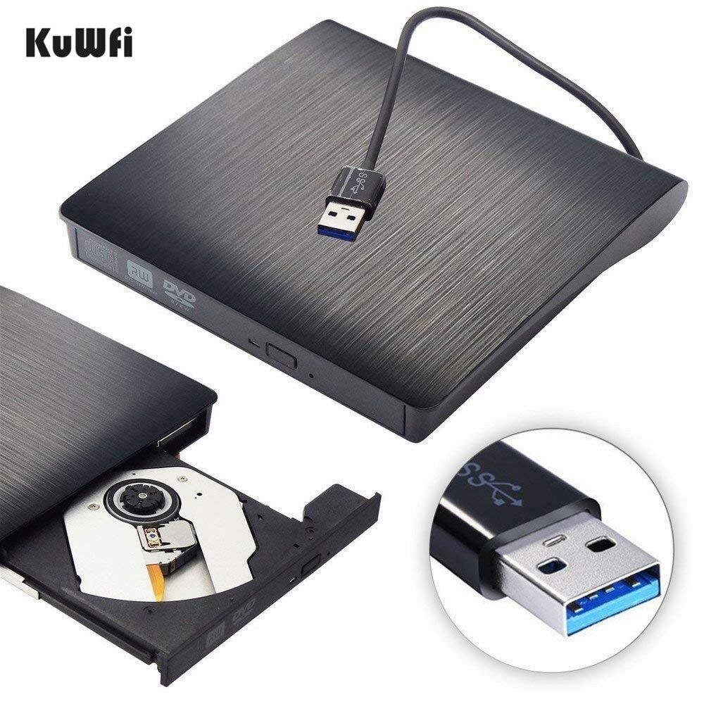 Mat Portable Externe DVD CD Burner USB 3.0 CD-RW DVD-RW CD DVD ROM Lecteur Lecteur Writer Graveur Pour iMac MacBook air PC