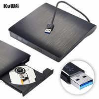 Matt Portable External DVD CD Burner USB 3.0 CD-RW DVD-RW CD DVD ROM Player Drive Writer Rewriter For iMac MacBook Air PC