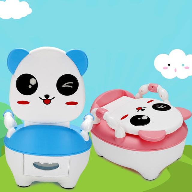 Venta caliente Niños Del Bebé Portátiles Asiento Urinarios Inodoro Orinal Bebé Niño Lactante Bacinica Aseo Pedestal pan Bedpen Higiénico
