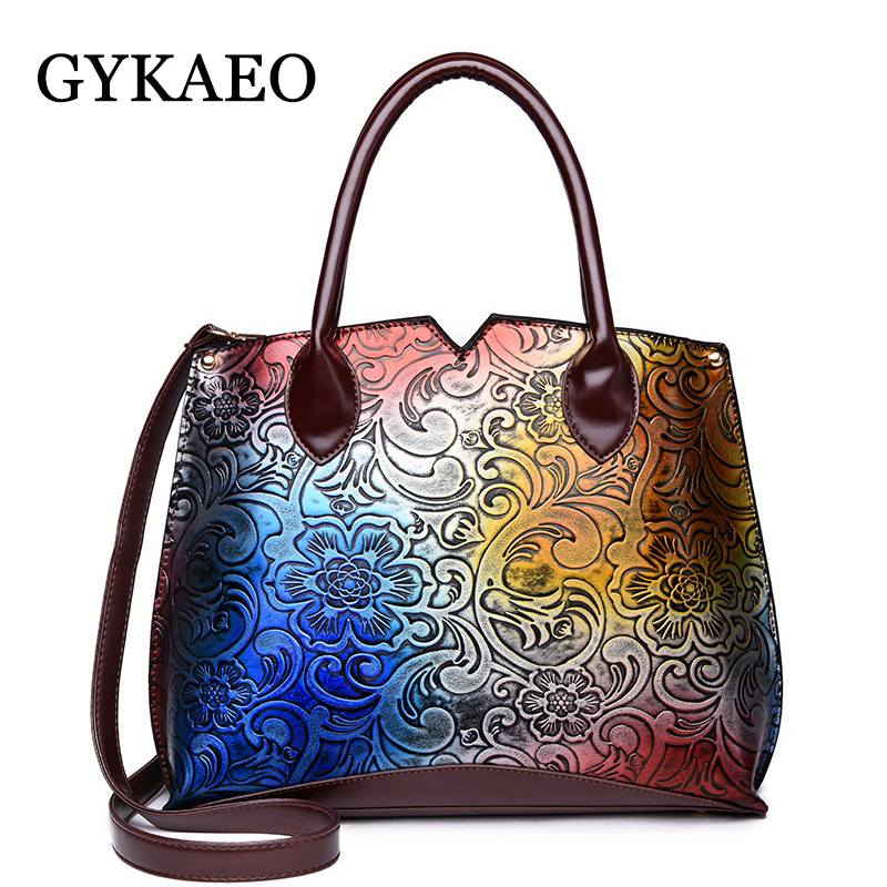 GYKAEO Fashion Luxury Handbags Women Bags Designer Floral Tote Bag Lady Casual Shoulder Bags For Women Messenger Bag Sac A Main 2018 floral luxury handbags women bag designer pu leather bag women messenger bags small chain crossbody shoulder bag sac a main