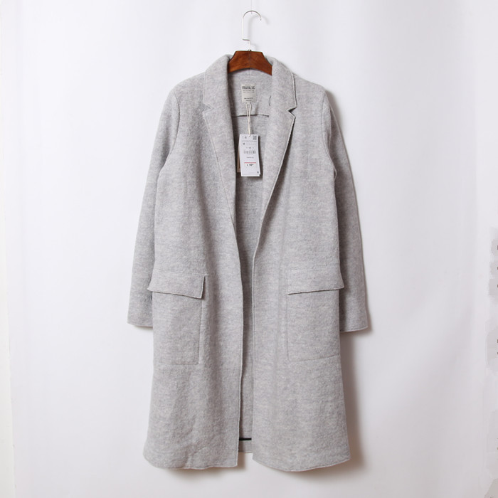 Grey long wool coat – Novelties of modern fashion photo blog