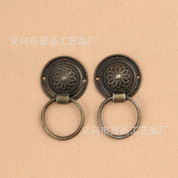 Factory direct furniture hardware cabinet drawer handle hole handle cabinet handle retro head handle wholesale