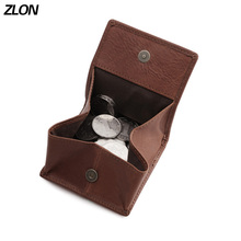 ZLON Men Leather Wallet Fashion Hasp Holder Case Wallet Cover For Men Crazy Horse Leather Coin Wallet Mamll Mini Purse K839