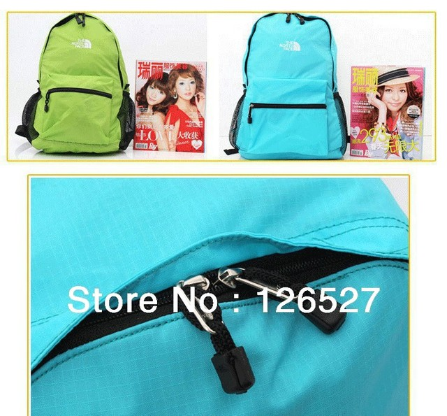 FREE SHIPPING/Ultra-light candy color backpack folding bag casual travel bag waterproof outside sport mountaineering bag