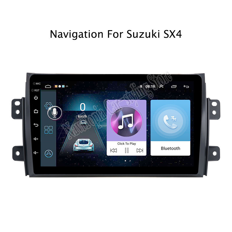 9inch <font><b>Android</b></font> 9.0 Car Radio GPS Navigation Multimedia Stereo DVD Player for <font><b>Suzuki</b></font> <font><b>SX4</b></font> 2006 2007 <font><b>2008</b></font> 2009 2010 2011 image