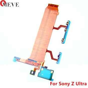 Original Main Board Connect LCD Flex Volume Power Button Side Button Mic Flex Cable For Sony Xperia Z Ultra XL39H C6802 C6833 image