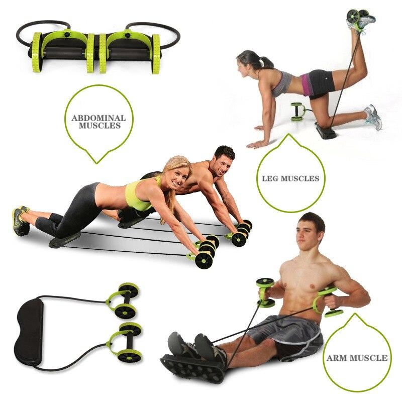 Ab rueda de rodillo Abdominal entrenamiento de músculo rueda brazo cintura pierna ejercicio Multi-funcional gimnasio Fitness equipos para Dropshipping