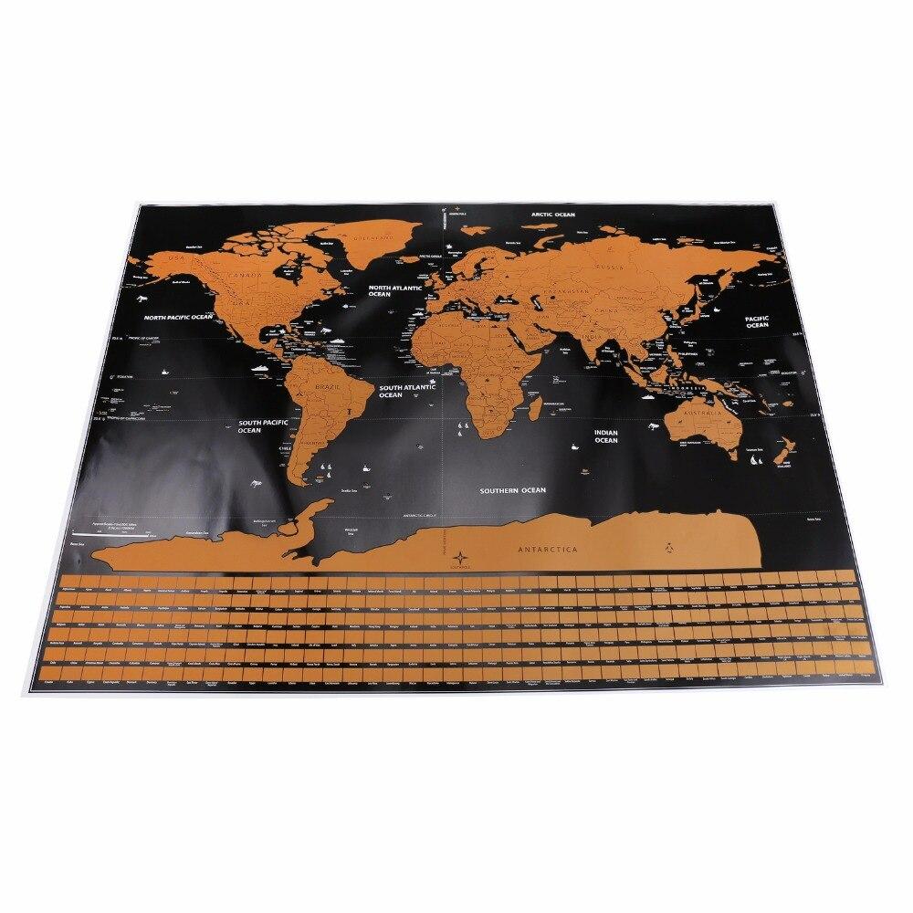 1 stück Scratch Map Personalisierte Flagge Scratch Karte Mini Kratzerfrei Off Folienschicht Beschichtung Poster Wandaufkleber 82,5x59,5 cm