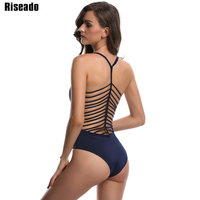 Riseado 2017 One Piece Swimsuit Sexy Women Bikini Set Bandage Swimwear Bodysuits Monokini Summer Swim Bathing