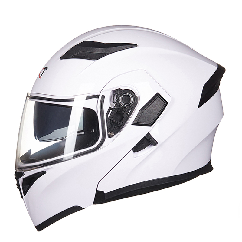 Flip up motorcycle helmet full face helmet Casco Racing Capacete with inner sun visor can put bluetooth headset double lense 902