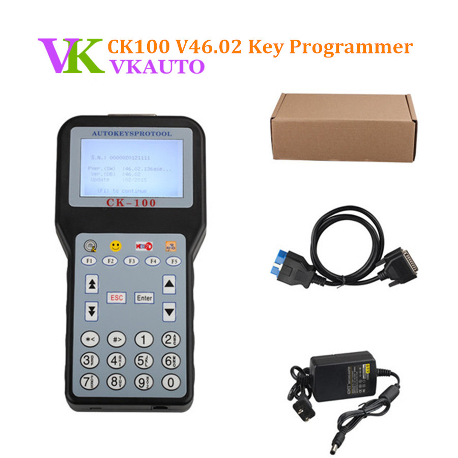 2017 Latest V46 02 CK100 Auto Key Maker With 1024 Tokens For Car Locksmith Tool New