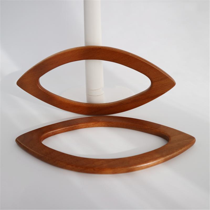 1pair Meetee 20*9.5cm wooden handle 3 colors DIY handmade patchwork Bag hook Buckle For Bag Frame Purse Handle AP2349