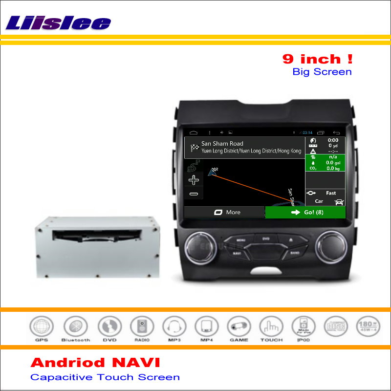 Liislee Car Android Gps Navi Navigation System For Ford Edge  Car Radio Stereo Audio Video Multimedia No Dvd Player