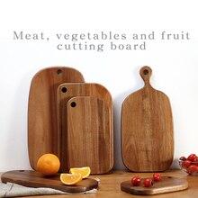 Акация woodchoppingboard фрукты блюдо для суши хлеб тарелка кофе лоток Сторона блюдо тарелка мясо, овощи и Разделочная доска для фруктов