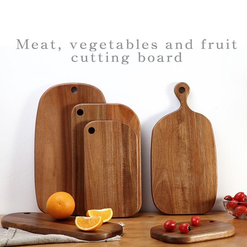 Acacia woodchoppingboard Obst teller Sushi platte brot platte Kaffee tablett beilage platte Fleisch, gemüse und obst schneiden bord