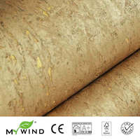 2019 MY WIND 14k GOLD Cork Wallpapers Luxury 100% Natural Material Safety Innocuity 3d Wallpaper In Roll Home Decor Luxurious