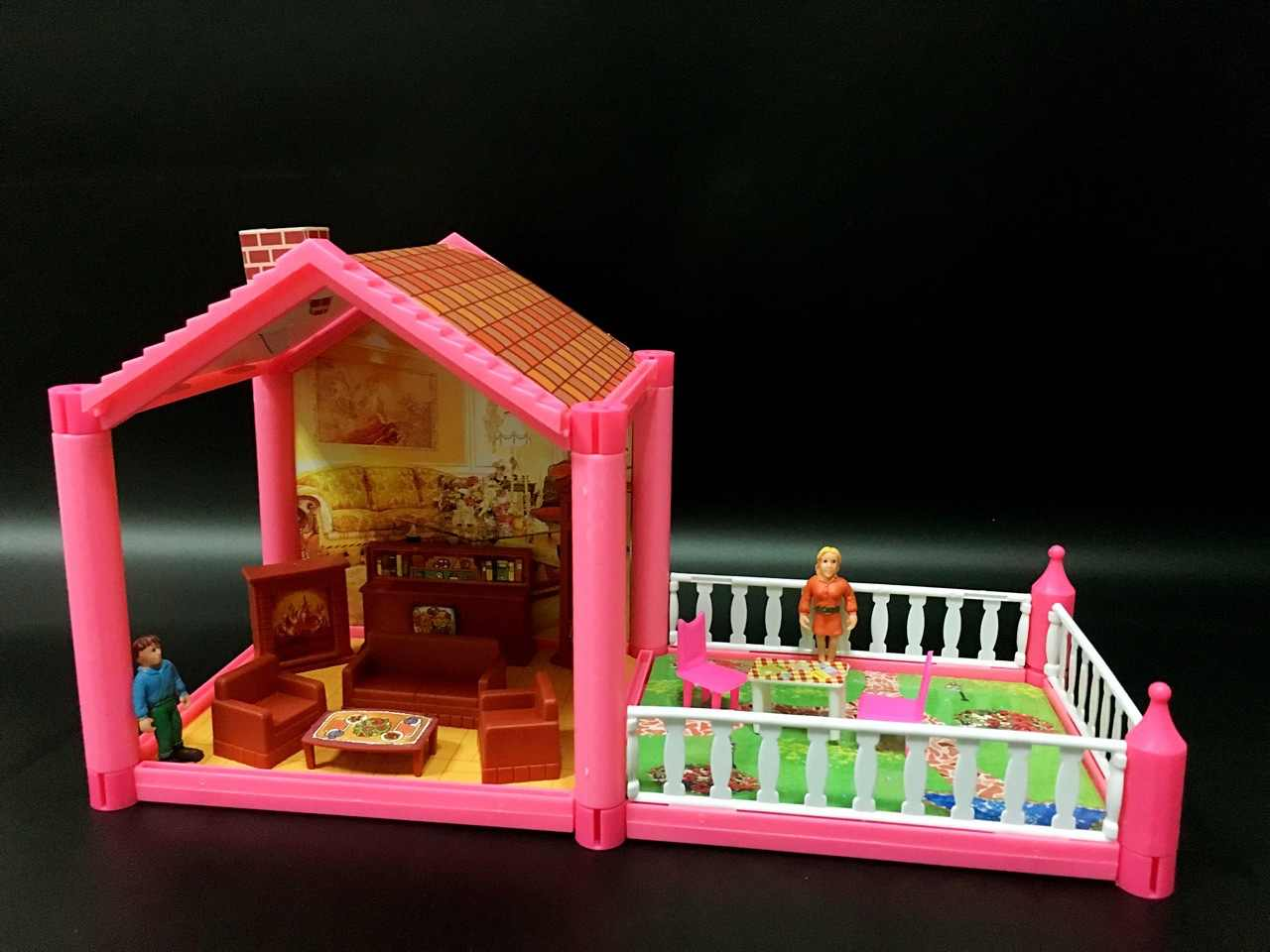 Boneka DIY Rumah Kit Aksesoris Miniatur Furnitur Rumah Boneka Miniatur Mini Kamar Boneka Mobil Anjing Gadis Mainan Coffe Table Mainan Anak