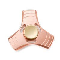 1 Pcs Hand Spinner EDC Tri Fidget Spinners Toys Brass Triangle Desk Toys With 608 Hybrid