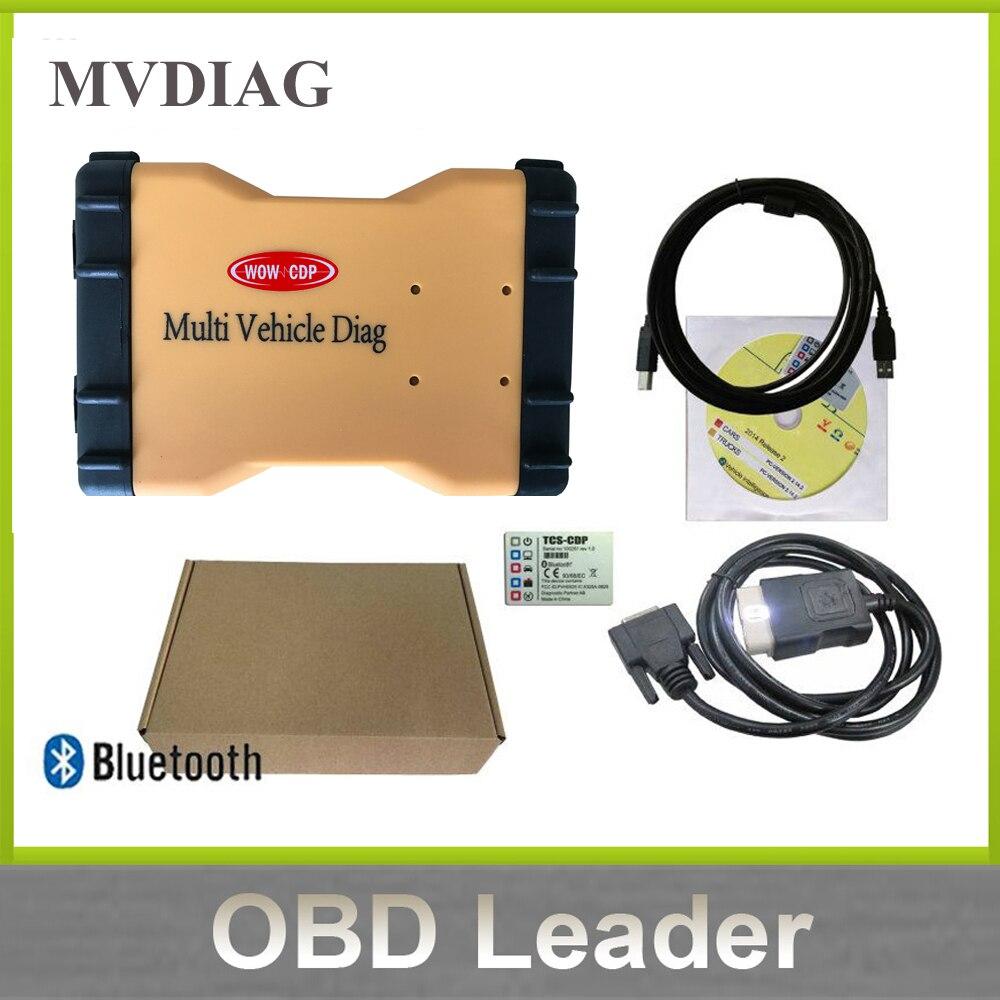 imágenes para Regalo MVDiag Keygen Con Bluetooth obd2 auto Herramienta de Diagnóstico vd TCS CDP Múltiples Diag para autos camiones Vehículo 2015.3 Envío gratis