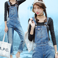 Summer style women denim jumpsuit 2017 macacao feminino vintage rompers womens jumpsuit jeans with holes women overall playsuit