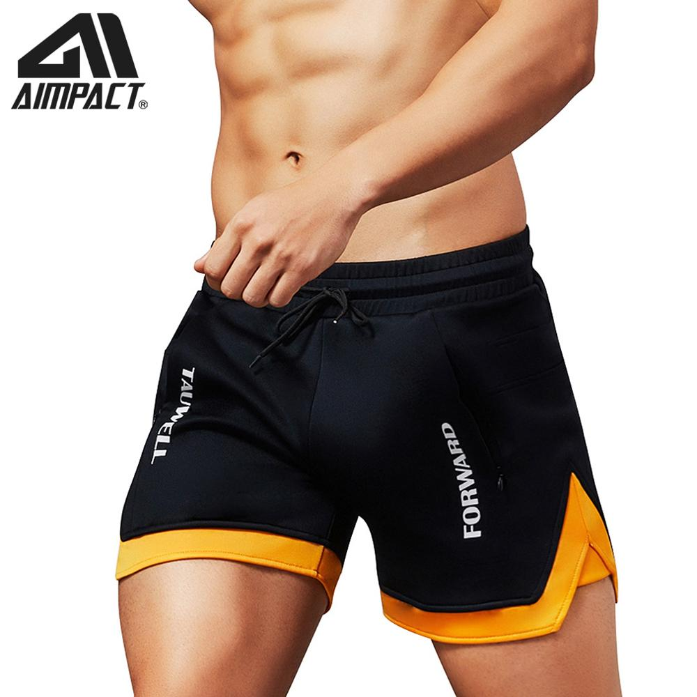 Aimpact Fashion Casual Shorts For Men Athletic Running Workout Gym Training Shorts Sport Soft Homewear Short Trunks AM2209