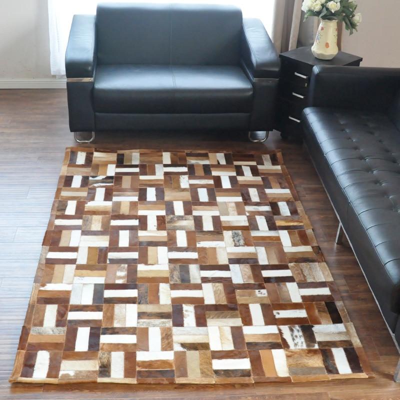 Fashionable art carpet 100% natural genuine cowhide leather removable carpet tilesFashionable art carpet 100% natural genuine cowhide leather removable carpet tiles
