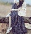 2016 Лето-белье японский Сломанной цветочный принт Платья Женщин Новый мори девушка случайные свободные Чешские Спагетти ремень dress