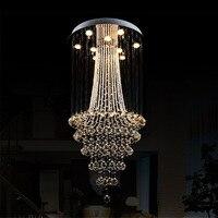 Свет люстры G10 лампы 95 245 В водонепроницаемый драйвер лазерного металлическое основание K9 кристалл, гостиная отель проекта