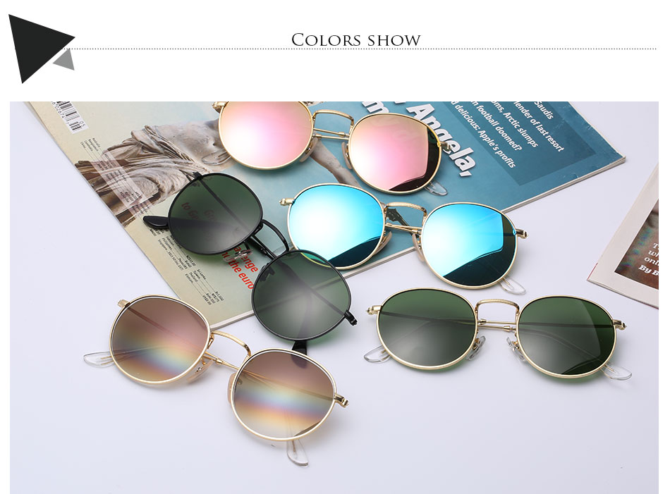 HTB1Q.3vey0TMKJjSZFNq6y 1FXad - Luxury Round Sunglasses Women Brand Designer 2018 Retro Sunglass Driving Sun Glasses For Women Men Female Sunglass Mirror 3447
