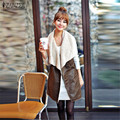 New Arrival 2016 Winter ZANZEA Women Casual Sleeveless Jackets Warm Faux Fur Lapel Leather Tank Coat Plus Size Outerwear