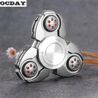 OCDAY Finger Spinner Zinc Alloy Spinning Top Clover Fingertips Spinner High Speed Fingertip Autism Recovery Decompression