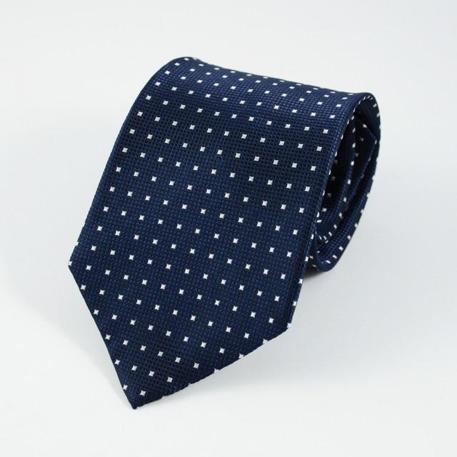 KAMBERFT New Style Formal Business Wedding Classic Men Tie Stripe Grid 8.5cm  Corbatas Fashion Accessories Silk Necktie Gravata