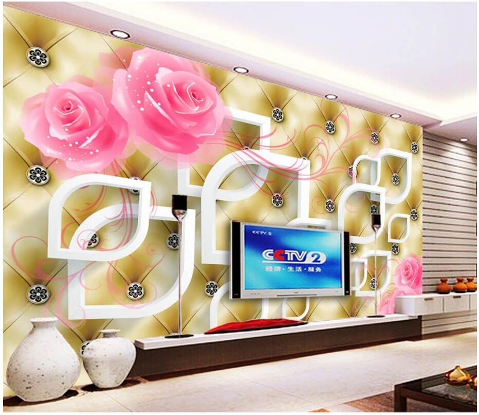 WDBH custom mural 3d photo wallpaper on the wall Rose soft package TV background wall 3d wall murals wallpaper for living room custom photo wallpaper 3d wall murals balloon shell seagull wallpapers landscape murals wall paper for living room 3d wall mural