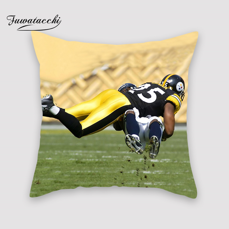 Fuwatacchi NFL Football Cushion Cover 3D Touchdown Decoration Prined Polyester Quarterback Pillow Sofa Decorative Pillowcase image