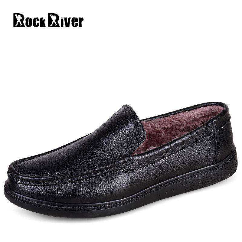 2017 Big Size 38-46 Genuine Cow Leather Shoes Men Slip-on Mens Shoes Casual Flats Men Loafers Moccasins Warm Plush Winter Shoes ceyue new genuine leather men casual shoes cowhide driving moccasins slip on loafers men hot designer shoes flats big size 38 47