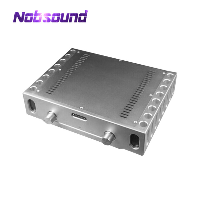 Nobsound Hi-End CNC Aluminum Chassis Power Amplifier Enclosure DIY Case W361*H85*D270mmNobsound Hi-End CNC Aluminum Chassis Power Amplifier Enclosure DIY Case W361*H85*D270mm