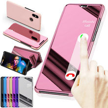 Voor Xiaomi Redmi Note 6 7 8 Pro 8T 6A 7A 8A View Mirror Flip Leather Case Voor Mi a2 A3 Lite 9 9T 10 K20 CC9 9E CC9 Pro Mi10(China)