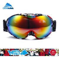 Hot Sale 2016 Unisex Snowboard Snowmobile Motorcycle Ski Goggles Anti Fog Snow Glasses Anti UV Motocross