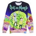 Рик и Морти Crewneck толстовка Harajuku 3d печати женщины/мужчины пуловер с капюшоном футболка с длинным Мода Капюшоном Sweatsuits