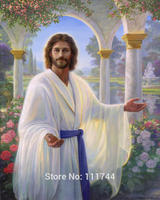 Paintings of jesus christ Abide With Me Portrait art Canvas painting High quality hand painted
