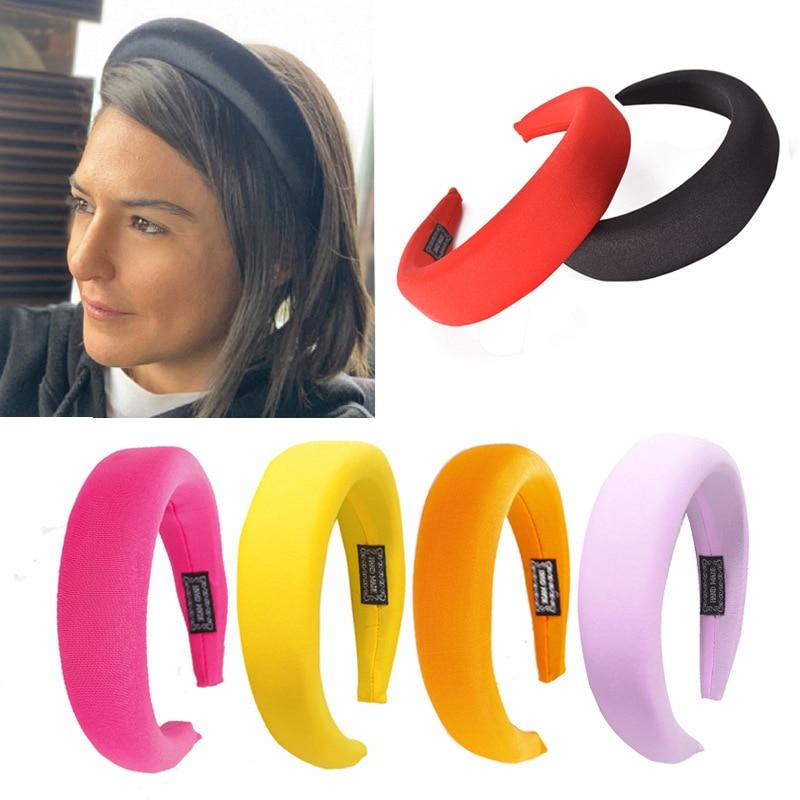 XIYANIKE Thick Sponge Velvet Headband For Women Girls Handbans Candy Color   Headwear   Fashion Hair Bands Accessories Drop Shipping