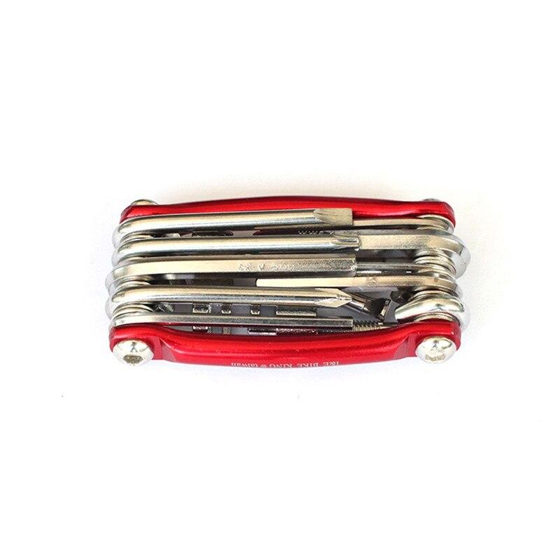 11 в 1 Маутейн дорожный велосипед Гаечные ключи ремонт инструмент Многофункциональный Велосипедные цепи резак Велоспорт обслуживания Tool Kit ... ...