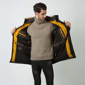 Image 5 - HERMZI abrigo de invierno de algodón acolchado para hombre, Parka gruesa de piel de mapache, Chaqueta larga acolchada, M 4XL de estilo ruso, 2020